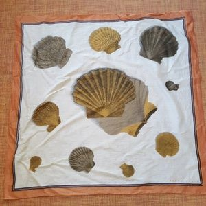 Vintage Perry Ellis Sea Shell / Beach Scarf